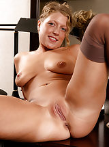 old pussy, Popular MILF Sara C spreads her legs revealing edible tight pussy